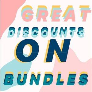 GREAT DISCOUNTS ON BUNDLES!!